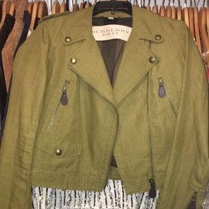 Burberry Brit green line jacket